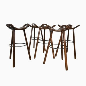 Mid-Century Swedish Barstools, 1950s, Set of 5