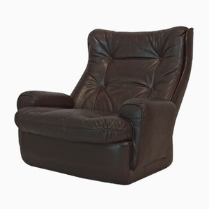 Vintage Leather Lounge Chair by Michel Casdestin for Airborne