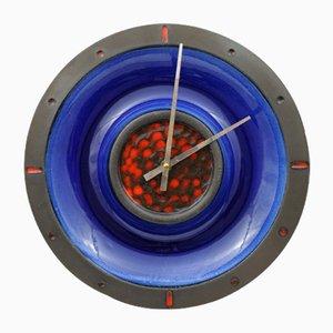 Fat Lava Stil Keramik Uhr von Junghans and Kingo Keramik, 1960er
