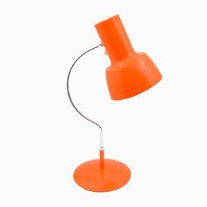 Lámpara de escritorio en naranja de Josef Hurka para Napako, años 60