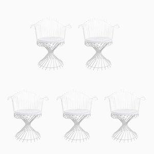 Antheor Chairs by Mathieu Matégot, 1950s, Set of 5