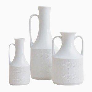 Mid-Century Vasen mit geometrischem Muster von Kerafina, 3er Set