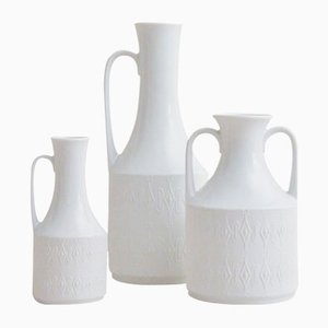 Mid-Century Vases with Geometric Pattern from Kerafina, Set of 3
