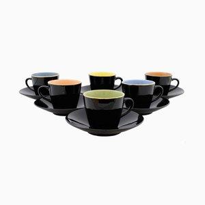 Tazas para café de Ditmar Urbach, años 60. Juego de 6