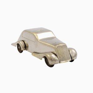 Vernickelte Art Deco Auto Sparbüchse, 1930er