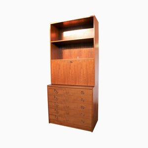 Vintage Shelving Unit with Chest of Drawers, 1960s