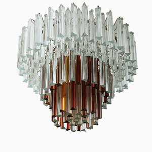 Lampada da soffitto in vetro di Murano di Paolo Venini, anni '60