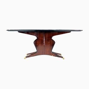 Italian Mahogany Table by Osvaldo Borsani, 1950s