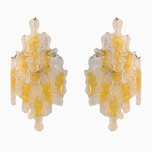 Mid-Century Brutalist Wall Sconces from Mazzega, Set of 2