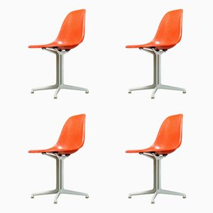 La Fonda Stühle von Charles & Ray Eames für Vitra, 1950er, 4er Set