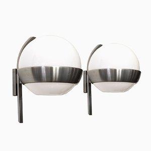 Abgerundete Wandlampen von Lumi, 1960er, 2er Set