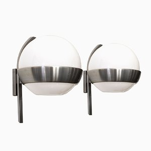 Luces de pared redondas de Lumi, años 60. Juego de 2