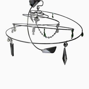 Lámpara de araña Iliona vintage en espiral de Toni Cordero di Montezemolo para Artemide