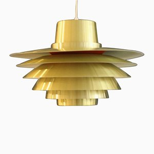 Vintage Large Pendant Light by Svend Middelboe for Nordisk Solar