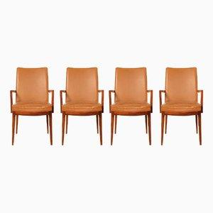 Modell Classic Stühle aus Leder & Rio-Palisander von Casala, 1960er, 4er Set