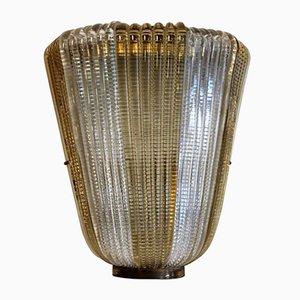 Italienische Goldfarbene Vintage Wandlampe