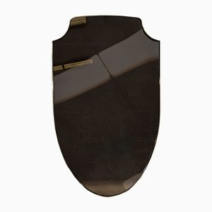 Aegis Bronze Shield Mirror in Brass by Richy Almond for Novocastrian