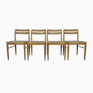 Dänische Eichenholz Esszimmerstühle von H.W. Klein für Bramin, 1970er, 4er Set