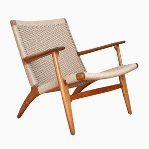 Eichenholz Modell CH25 Sessel von Hans Wegner für Carl Hansen and Son, 1950er