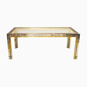 Chrome & Brass Side Table by Romeo Rega, 1970s