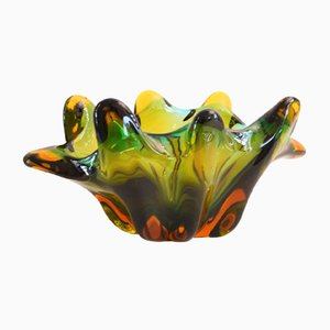 Cuenco italiano de cristal de Murano, años 50