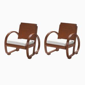 Moderne Sessel von Michel Dufet, 1940er, 2er Set