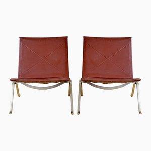 Chaises d'Appoint PK 22 par Poul Kjæerholm pour Kold Christensen, 1950s, Set de 2
