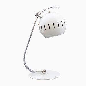 Lampe de Bureau Eyeball Blanche, 1960s