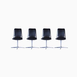 Mid-Century Swivel Chairs, Set of 4