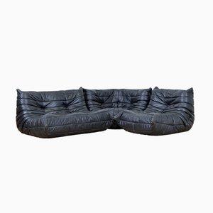 Togo Leather Sofa Set by Michel Ducaroy for Ligne Roset, 1973
