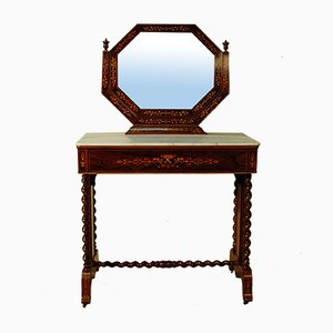 Antique Charles X Inlaid Dressing Table