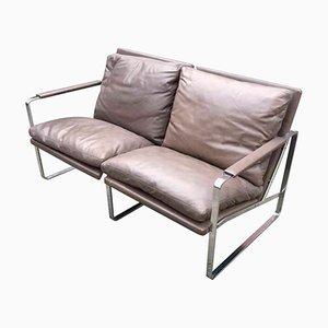 Vintage 2-Sitzer Leder Sofa von Preben Fabricius & Jørgen Kastholm für Walter Knoll Edition