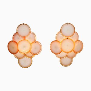 Mid-Century Disc Wall Sconces by Gino Vistosi, Set of 2