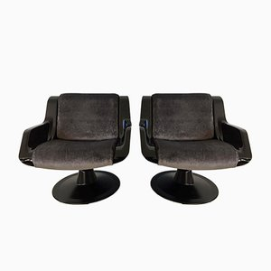 Chaises Pivotantes 3814-1KF par Yrjo Kukkapuro pour Haimi, 1960s, Set de 2