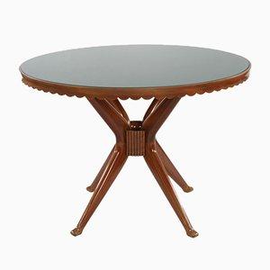 Italian Mahogany Table, 1950s
