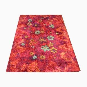 Floraler Deutscher Vintage Teppich, 1970er