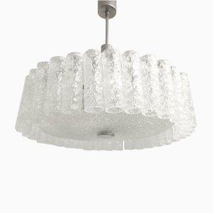 Lámpara de araña alemana Mid-Century de vidrio de Doria Leuchten, años 60