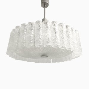 Mid-Century German Glass Chandelier from Doria Leuchten, 1960s