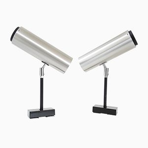 German Brushed Steel Wall Lights from Staff, 1970s, Set of 2