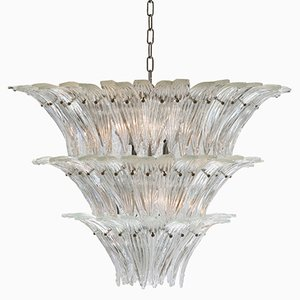 Mid-Century Palmette-Shaped Chandelier from Barovier & Toso