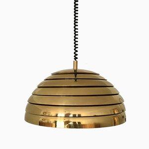 Lámpara colgante grande de latón con listones de Vereinigte Werkstätten Collection, años 60