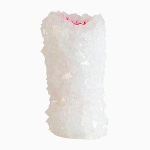 Vase Neon Cristal Rose par Isaac Monté, 2018