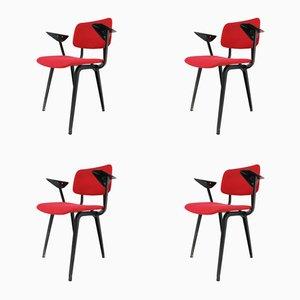 Revolt Sessel von Friso Kramer für Ahrend Cirkel, 1958, 4er Set