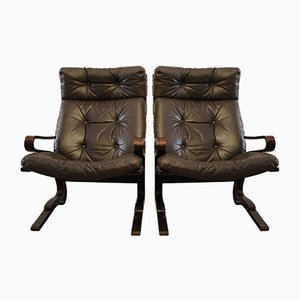 Vintage Armchairs by Ingman Relling, Set of 2