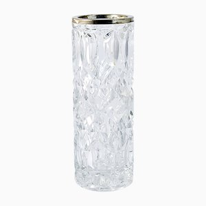 Vase Antique en Verre de King and Sons Chester, Royaume-Uni
