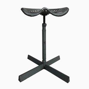 Silla industral de acero con asiento giratorio