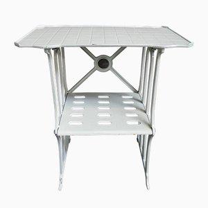 Jugendstil Tisch aus Gusseisen von L.F.B. Haren