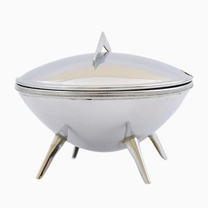 Space Age UFO Silver-Plated Sugar Bowl, 1960s
