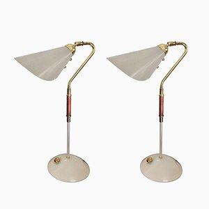 Lámparas de mesa de Karlskrona Lampfabrik, años 60. Juego de 2
