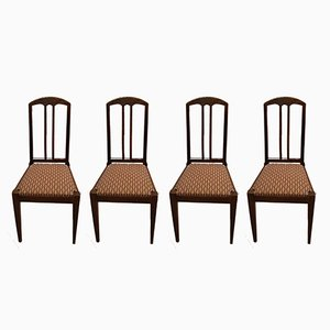 Antique Oak Chairs by Bruno Paul for Münchner Werkstätten, Set of 4